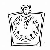 Clock Coloring Alarm Mouse Peek Reloj Cuadrado Blank Printable Getcolorings Digital Minion Antique Desde Guardado sketch template