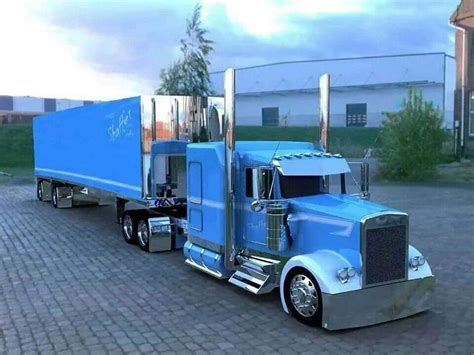 big kenworth trucks kenworth custom w900l with matching reefer trucks