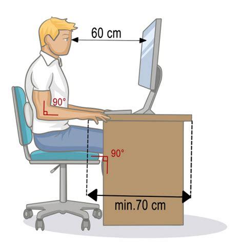 position bureau ergonomique adopter une bonne position assise au bureau mal de dos