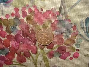 Voyage Decoration Hedgerow Linen Floral Designer Curtain