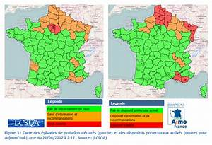 Carte France Pollution : episode de pollution l 39 ozone situation et volution 21 juin 2017 prev 39 air ~ Medecine-chirurgie-esthetiques.com Avis de Voitures