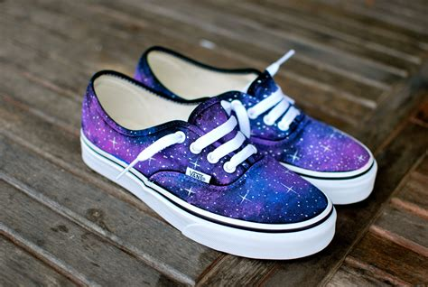 sepatu vans authentic black new galaxy vans shoes custom painted galaxy on vans