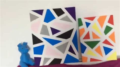 Abstract Shapes Painting by How To Make A Geometric Painting