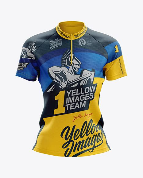 Free mockup in psd format. Womens Cross Country Jersey mockup Front View (PSD ...