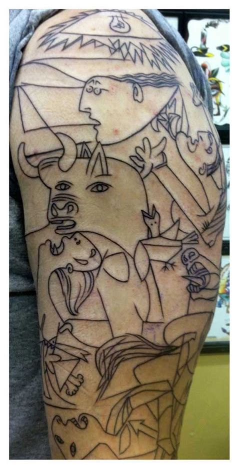 pablo picasso guernica  picasso tattoo guernica