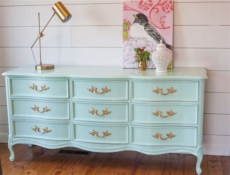 dixie provincial dresser goes glossy painted by
