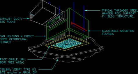 exhaust fan ceiling tile grill  autocad cad