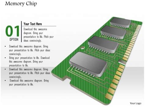 Memory Chip Shown Pcb Printed Circuit Board With