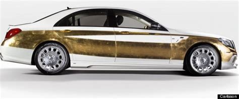luxury car covered in real gold is the definition of stupid rich huffpost