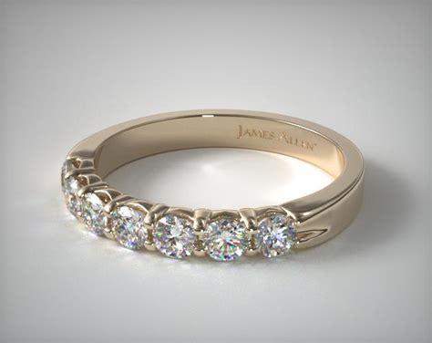 wedding rings womens anniversary  yellow gold ctw