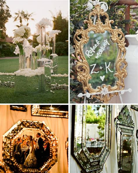 creative decoration ideas creative wedding decor ideas outdoor weddings with mirrors onewed com