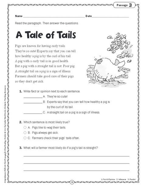 comprehension skills passages for reading grade 2