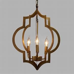 Gold quatrefoil light pendant lamp world market