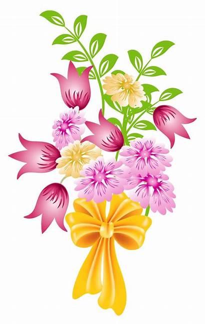 Bunch Flowers Clipart Clip Flower Bouquet Spring