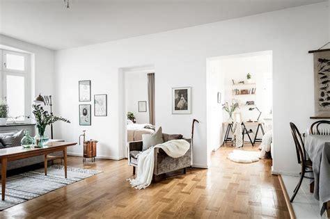modern vintage interior design  swedish apartment