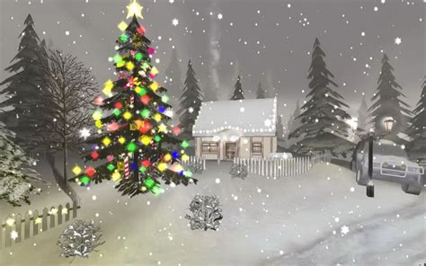 christmas winter scenes wallpapers wallpaper cave