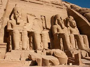 Above Are The Statues Of Ramses 2 His Reign Lasted 66