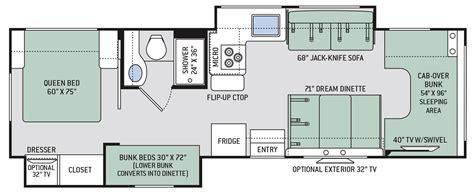 chateau class  motorhomes floor plan  thor motor