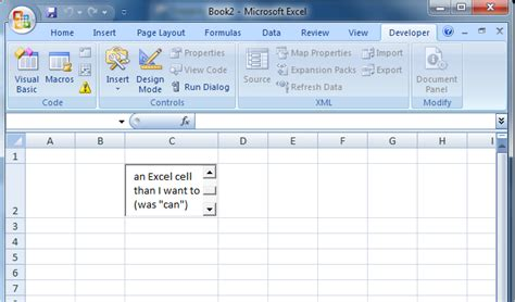 place insert much text for an excel cell how to the cell