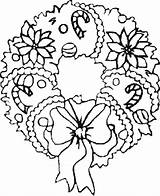 Holiday Coloring Pages Christmas Filminspector Wreath Wreaths sketch template