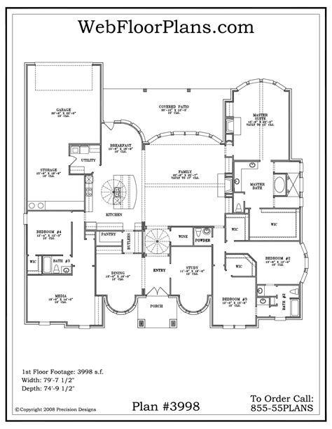Floor Plans For 1 Story Homes by Single Story Home Plans 1 One Story House Plans