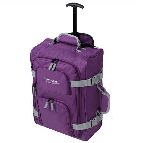 ryanair cabin wheeled travel hand luggage trolley holdall