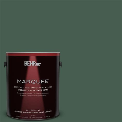 behr marquee 1 gal 450f 7 hton green flat exterior