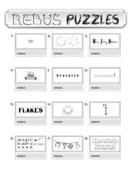 rebus puzzles worksheet pdf rebus quot wuzzle quot puzzle worksheet 10 breakfast cereals by