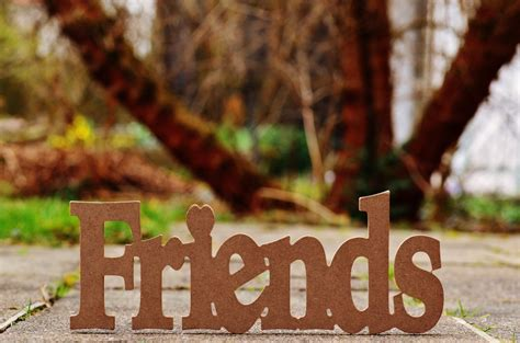 imagen de adorno de madera  la palabra friends foto
