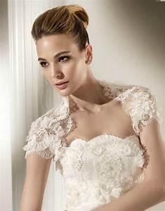 Romantic lace bridal bolero for Wedding dress shrug