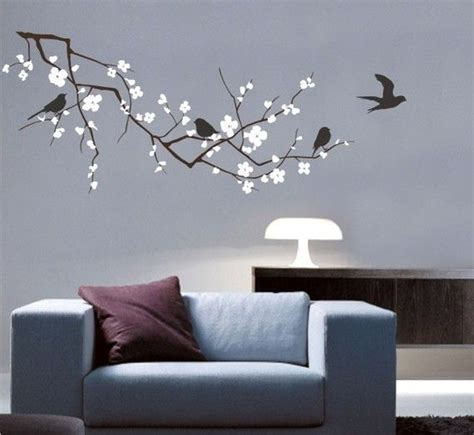 cherry blossom wall decal cherry tree branch with birds