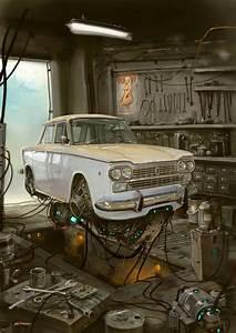 Digital Artist Creates  U0026quot Universe Scrap U0026quot  Where Classic Cars