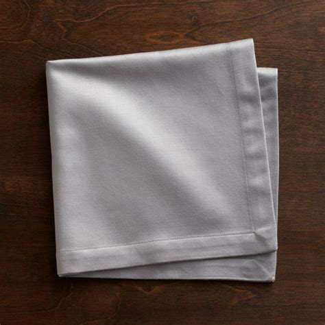 sateen silver cloth dinner napkin reviews crate  barrel