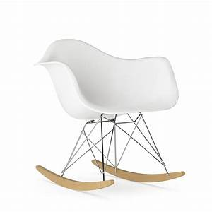 Charles Eames Schaukelstuhl : vitra eames plastic armchair rar white chrome plated yellowish maple by charles ray eames ~ Sanjose-hotels-ca.com Haus und Dekorationen