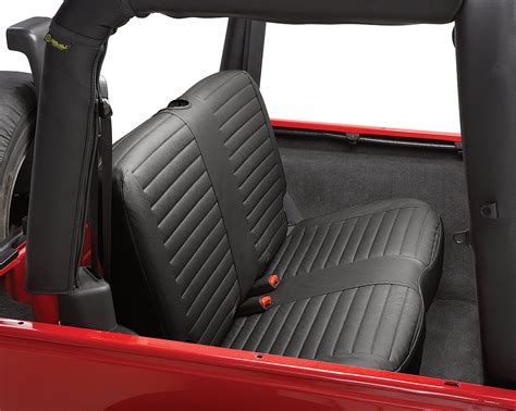 jeep wrangler backseat bestop 29229 35 rear bench seat cover in black for