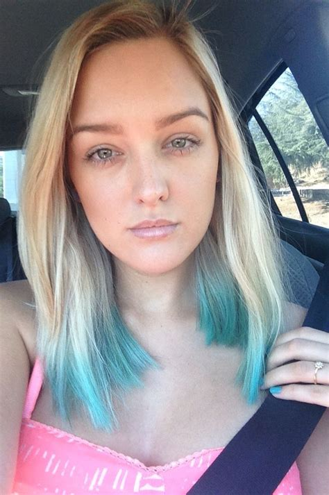 Teal Dip Dye Hair Done With Kool Aid Mix 2 Cups Water