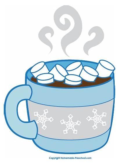 Winter Clipart Clip Cocoa Chocolate Preschool Cup