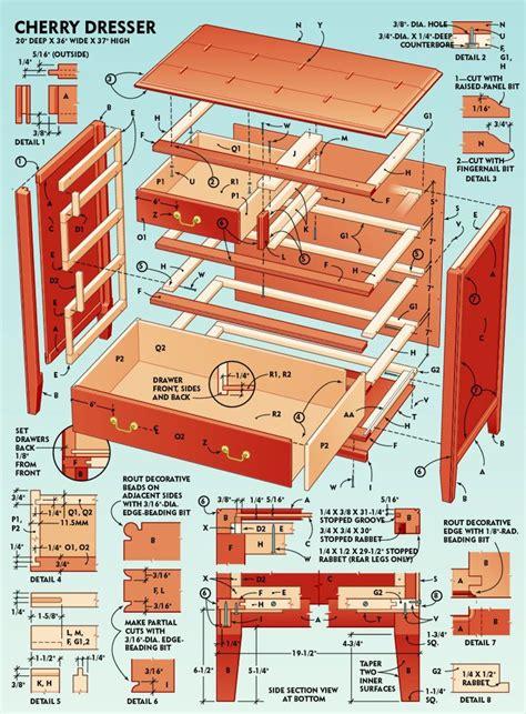 dresser drawer plans     dresser