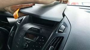 How To Remove Radio    Display From Ford Transit 2015 For