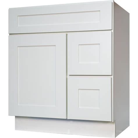 bathroom vanity cabinet  solid wood shaker white