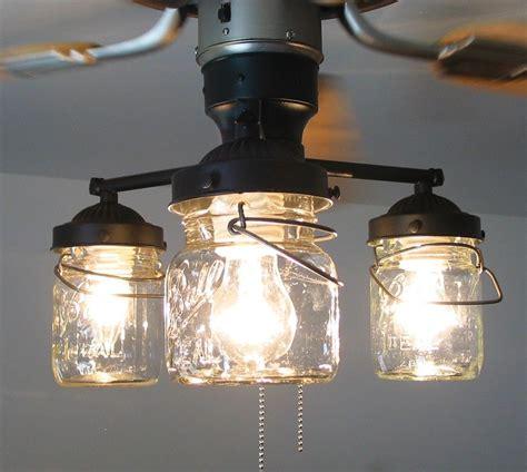 vintage canning jar ceiling fan light kit