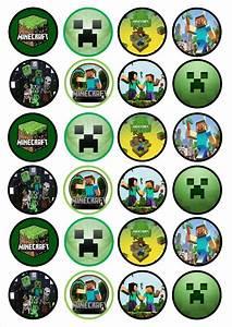 Minecraft Cupcake Toppers cakepins.com | cumple vicente ...