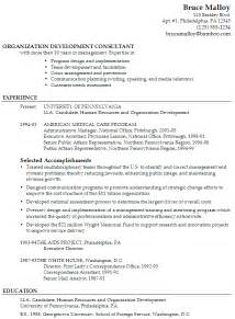 Resume Organization Membership by Chronological Resume Exle Organization Development