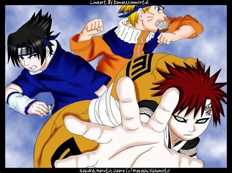 Gaara Naruto N Sasuke By Danekoyagami On Deviantart