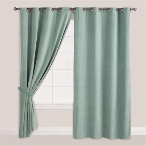 blue surf velvet grommet top curtain world market