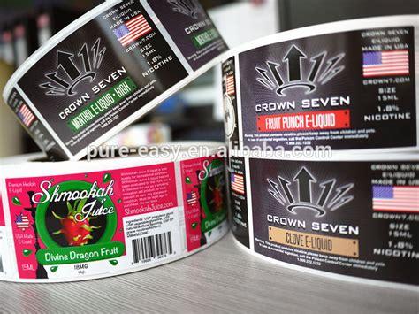 hot custom  liquid label sticker printing buy