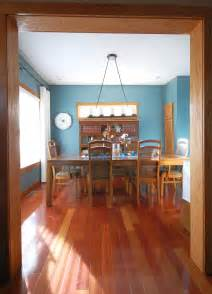 my dining room with oak trim paint color sherwin williams moody blue really like this blue