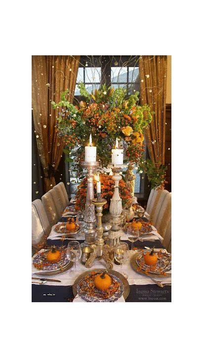 Thanksgiving Table Elegant Picmix Fall Setting Holiday