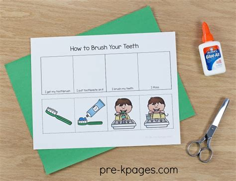 dental health theme activities for preschool 468 | How to Brush Your Teeth Sequence
