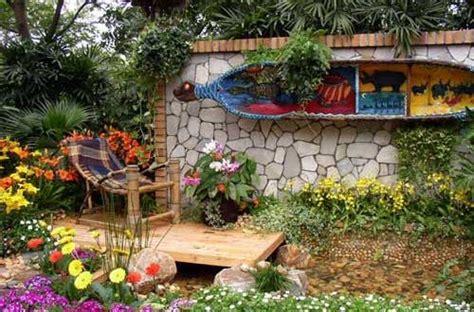 decoracion personalizada jardines rusticos hoy lowcost